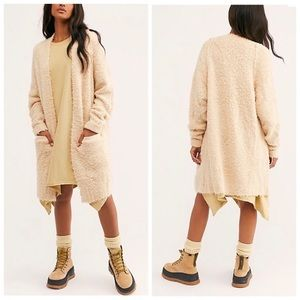 NWT Free People Once in A Lifetime Cardigan Tea